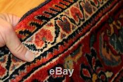 VINTAGE 5' 5 x 6' One of a Kind collectible KURDISH Lilihan Sarouk Rug #PM75