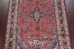 VINTAGE CORAL Traditional Floral Hamedan Persian Oriental Hand-Knotted 7x10 Rug