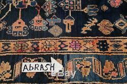 VINTAGE Decorative Tribal Hamedan Persian Oriental HandKnotted 5x9 NAVY BLUE Rug