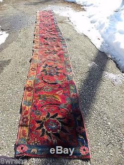 Vintage Extra Rare Extra Long Persian Runner Rug18