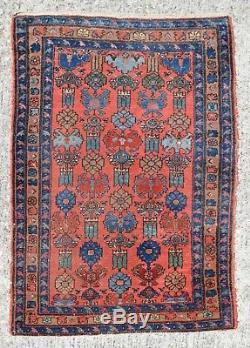 VINTAGE HAND KNOTTED PERSIAN HAMADAN RUG, 3x5, heriz-merchant