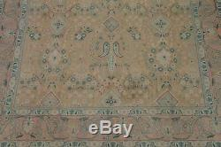 VINTAGE MUTED 10x13 Persian Oriental Hand-Knotted PEACH Distressed Wool Rugs