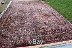 Very Large Vintage Karastan Rug 700 Series 717 Panel Kirman 11.6x18 #587