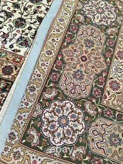 Vintage 10X13 Fine Persian Tab-riz Hand-Knotted Wool Rug Carpet