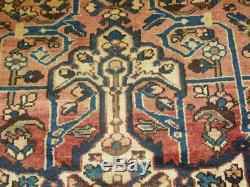 Vintage 10x13 med bakhtiar semi antique wool hand knotted Persian Oriental Rug