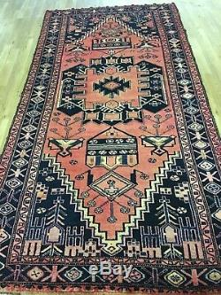 Vintage 5x10 balouch semi antique wool hand knotted Persian Oriental Rug