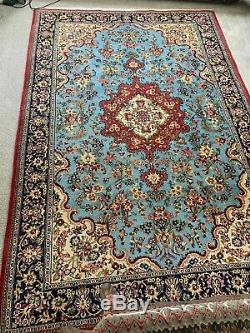 Vintage 7x10 medallion mahal semi antique wool hand knotted Oriental Rug