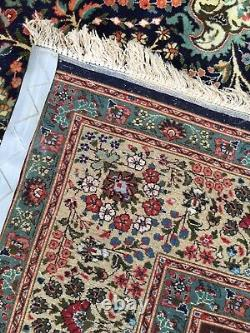 Vintage 8x11 Fine Persian Tab-riz Hand-Knotted Wool Rug Carpet