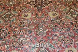 Vintage 9x12 medallion mahal antique wool hand knotted Persian Oriental Rug