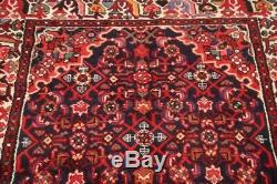 Vintage All-Over Traditional 14' Long Runner Hamedan Hand-Knotted Rug 4'x14