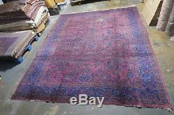 Vintage / Antique Persian Sarouk Hand Knotted Wool Rug 8'4 x 11'8 WORN