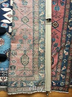 Vintage Antique Pink Blue Turquoise Persian Oriental Rug Hand Knotted Wool 1905