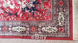 Vintage Carpet Rug Antique, 4/6 ft