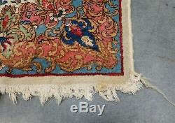 Vintage Estate Found 1940s/50s Middle Eastern Arabesque Throw Rug 56.5 x 36.5
