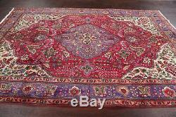 Vintage Floral Kashmar Handmade Oriental Area Rug Medallion Wool Carpet 7'x10