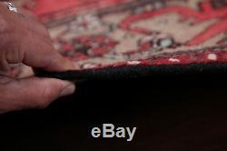Vintage Geometric 10 ft Runner Hamedan Persian Oriental Tribal Wool Rug 3' x 10