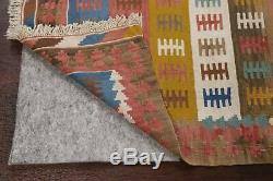 Vintage Geometric Kilim Navajo Wool Area Rug Hand-Woven Oriental Carpet 3'x5