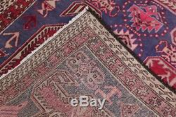 Vintage Geometric Meshkin Persian Handmade 3x10 Wool Oriental Runner Rug Blue