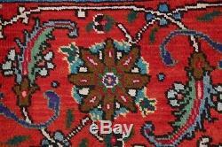 Vintage Geometric Midnight Blue Hand Knotted Taabriz Persian Oriental Rug 10x13