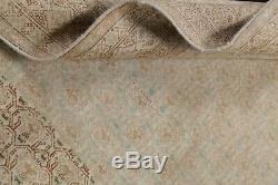 Vintage Geometric Oriental Hand-made Distressed Wool Area Rug 6' x 8