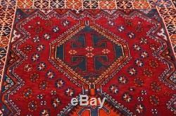 Vintage Geometric Tribal Nomad Red 5x8 Lori Shiiraz Persian Oriental Area Rug