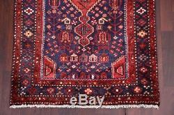 Vintage Geometric Tribal Runner 3x9 Hamedan Persian Oriental Rug 9' 2 x 3' 4