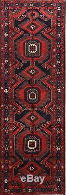 Vintage Geometric Tribal Runner 4x10 Bakhtiari Persian Oriental Rug 10' 2 x 3' 6