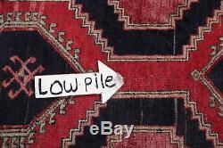 Vintage Geometric Tribal Runner Ardebil Persian Oriental Wool Rug 12' 3 x 3' 4