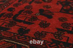 Vintage Hand-Knotted Carpet 3'5 x 4'11 Traditional Oriental Wool Area Rug