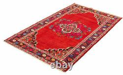 Vintage Hand-Knotted Carpet 4'9 x 8'2 Traditional Oriental Wool Area Rug