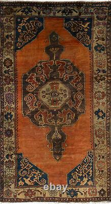 Vintage Hand-Knotted Carpet 5'4 x 10'6 Traditional Oriental Wool Area Rug