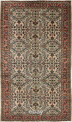 Vintage Hand-Knotted Carpet 5'8 x 9'7 Traditional Oriental Wool Area Rug
