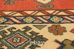 Vintage Hand-Knotted Carpet 6'10 x 9'9 Traditional Oriental Wool Area Rug