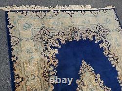 Vintage Hand Made Persian Area Rug 7 x 10 Beautiful Deep Royal Blue