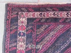 Vintage Hand Made Traditional Oriental Wool Brown Long Rug 280x131cm