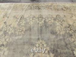 Vintage Hand Made Traditional Wool Faded Blue Distressed Carpet 416x292cm