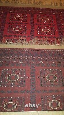 Vintage Hand Made rug 5 X 7