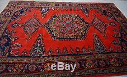 Vintage Handmade Persian Rug Hand Knotted Kermaan Area Persian Carpet-220x322cm