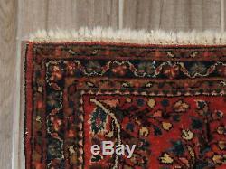 Vintage Handmade Persian Sarouk Wool Rug 2x4ft
