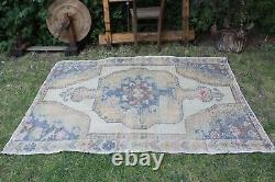 Vintage Hanmade Turkish Oushak Area Rug 176x55, 192x141cm
