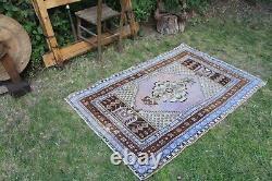 Vintage Hanmade Turkish Oushak Area Rug 61x40