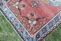Vintage Hanmade Turkish Oushak Area Rug 72x35