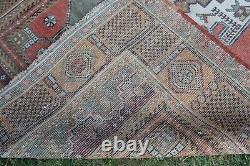 Vintage Hanmade Turkish Oushak Area Rug 89x48, 226x122cm