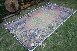 Vintage Hanmade Turkish Oushak Area Rug 98x53, 250x135cm