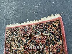 Vintage Karastan Kirman #717 Wool Rug 2'2 X 4 runner 2x4 Multi-Color