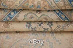 Vintage MUTED Persian Area Rug Beige Blue Distressed Oriental Wool Carpet 10x13