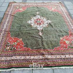 Vintage Middle Eastern Hand Knotted Wool Rug Signed 240cm x 325cm