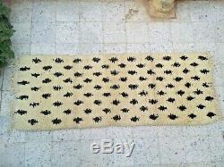 Vintage Moroccan Handmade Rug wool Azilal Carpet Tribal Berber Rug 6'5 x 2'3