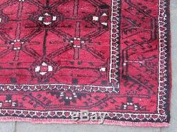 Vintage Old Hand Made Traditional Persian Oriental Wool Red Long Rug 290x160cm