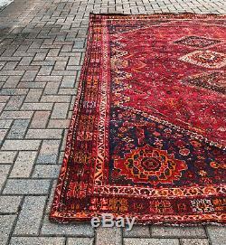Vintage Oriental Area Rug 6'. 9X9'. 10 Vintage Oriental Handmade Carpet